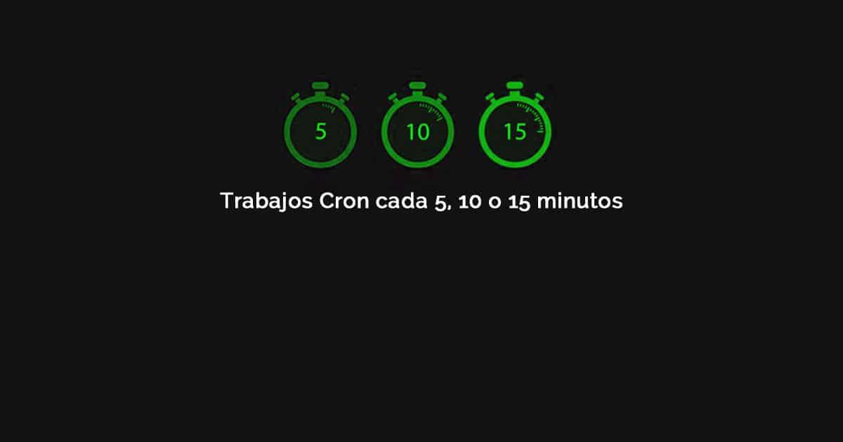 Cómo ejecutar trabajos Cron cada 5, 10 o 15 minutos