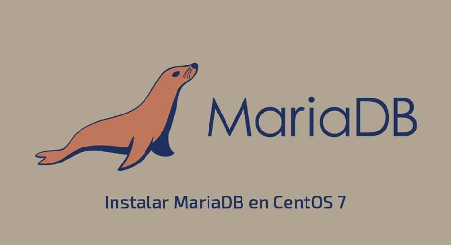 Instalar MariaDB en CentOS 7
