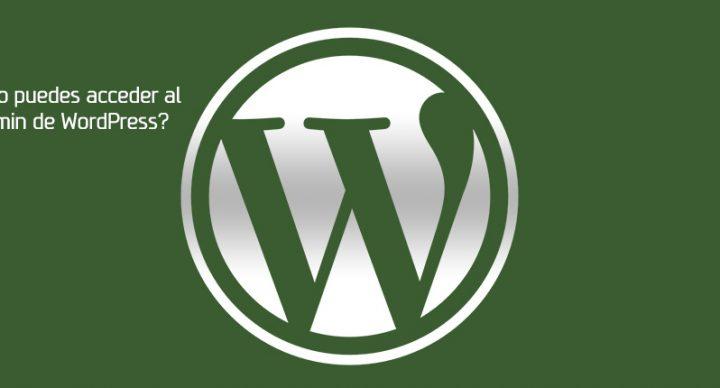 ¿No puedes acceder al admin de WordPress?