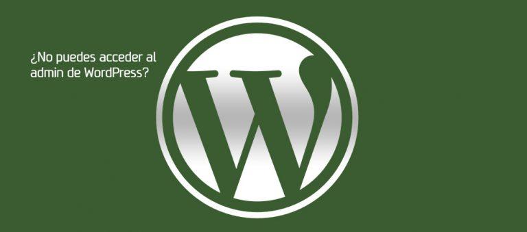 No puedo acceder WordPress