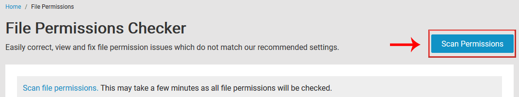 Scan file permissions