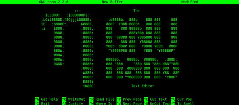 Nano, el editor de texto